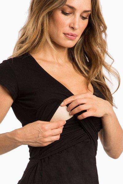 Cross-chest V-neck Maternity Dress Sexy Short-sleeved Nursing Clothes
