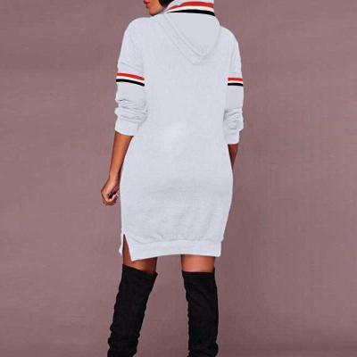 Maternity Hooded Long Slit Sweater