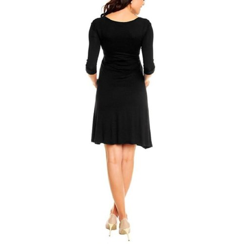 Maternity V-Neck Midi Dress
