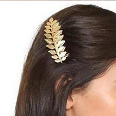 Metal leaf hairpin clip Headwear