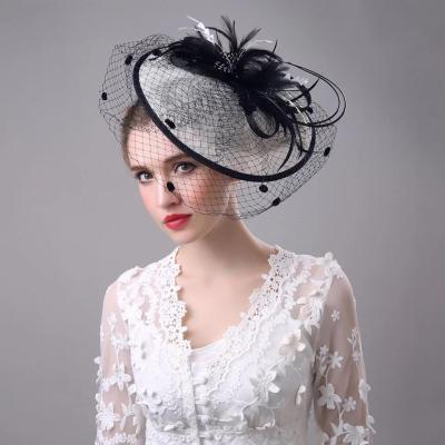 Large Disc Hemp Dress Hat Party  Yarn Linen Hat Head