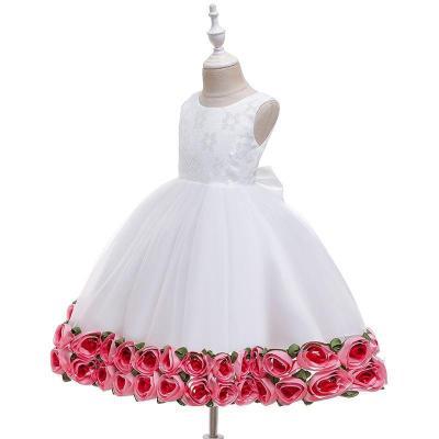Sleeveless Rose Princess Evening Dress