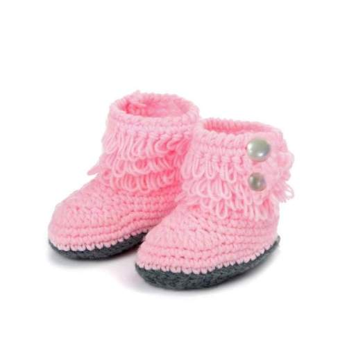 Handmade Crochet Fashion Baby Boots Shoes - 3-9 months (5 Colors)