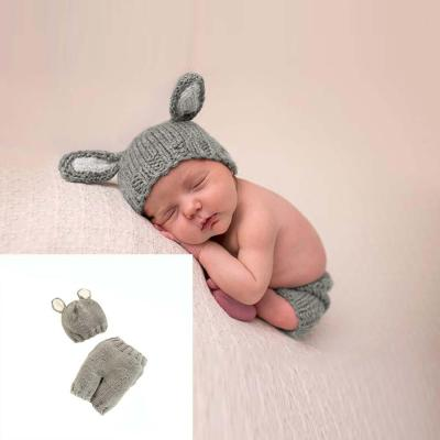 New baby photography props hand woven animal modeling gray newborn cartoon set