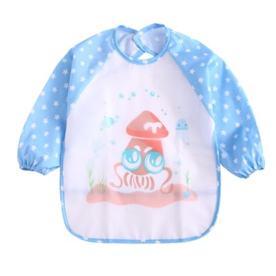 Toddler Baby Girls Boys Bibs Waterproof and Wipeable-Eat and Play Smock babador Apron