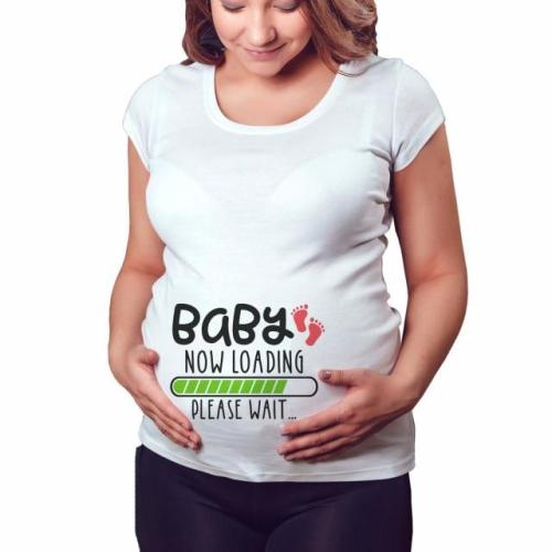 Baby Now Loading Pls Wait Maternity T Shirt