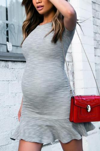 Maternity Concrete Flippy Dress