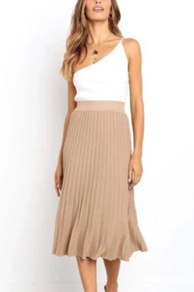 Maternity Casual High-waist Pure Color Loose Dress