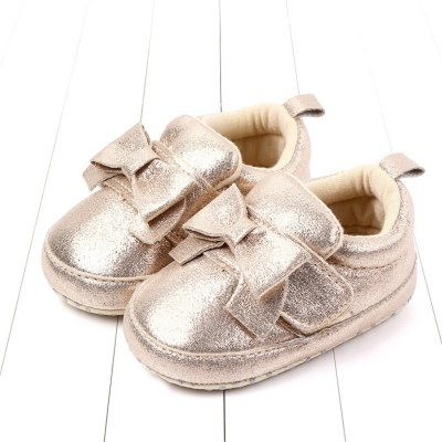 Soft bottom baby Cute Bow Knot First Walk Winter Casual Warm Shoes