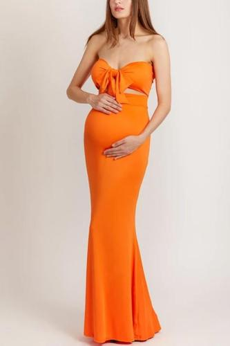 Maternity Strapless Evening Dress