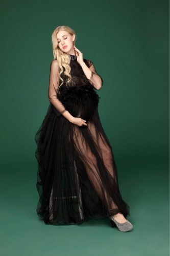 Portrait Maternity Dresses Lace For Photo Shoot