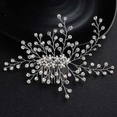 Rhinestone Handmade Leaf Hair Combs Bridal Wedding Hair Accessories