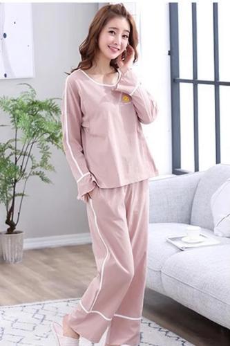 Cotton Maternity Pajamas Set Cardigan+Trousers  Pregnant for Women
