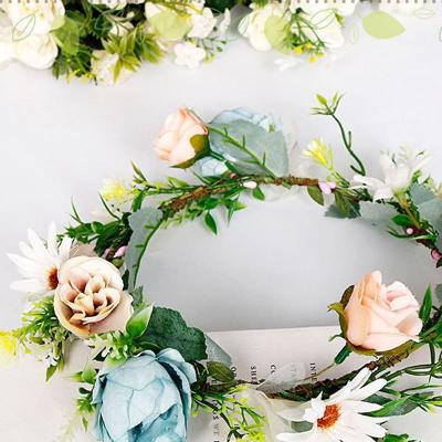 Brisk handmade artificial flower bride headwear wreath