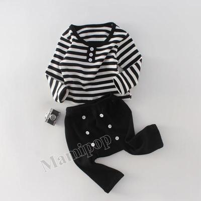 Two Year Old Boys and Girls' Two Piece Suit with Striped Top and  Pants Suit