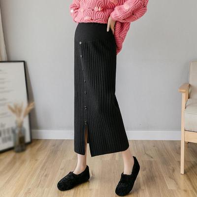 Maternity High Waist Bottoming Knit Skirt