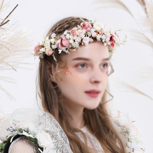 Women's Hand-Woven Weave Artificial Wreath Headdress