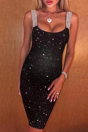 Maternity Fashion Print Sling Dress