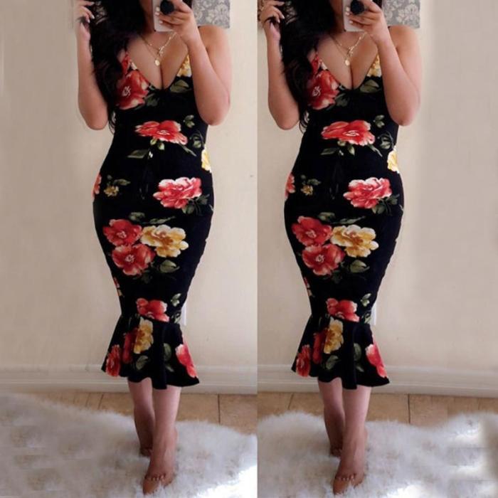 Maternity Printed Cami Dress