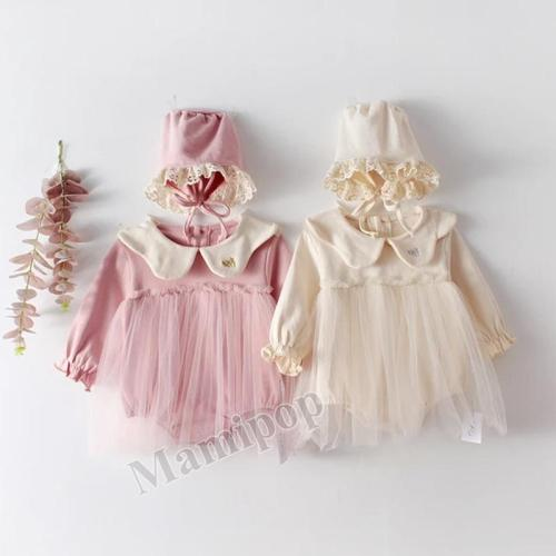 2020 Long Sleeve Doll Collar Embroidered Mesh Cotton Climbing Suit