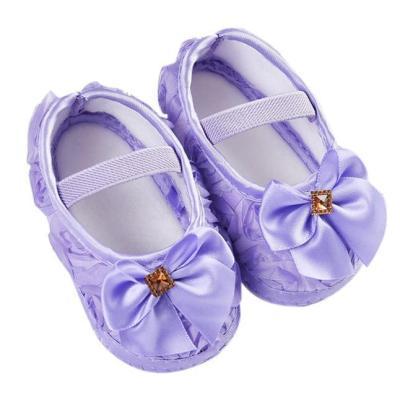 2020  First Walk Baby Girl Shoes Toddler Kid Baby Girl Rose Bowknot Elastic Band Newborn Walking Shoes