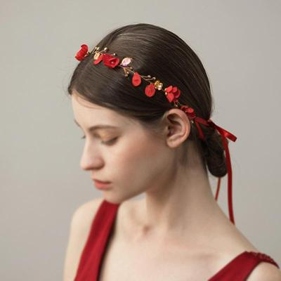 Women's Cloth Flower Wedding Wreath Headdress