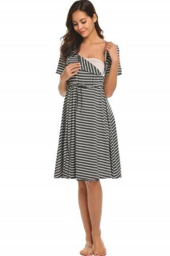 Striped  nursing nightgown Pajamas