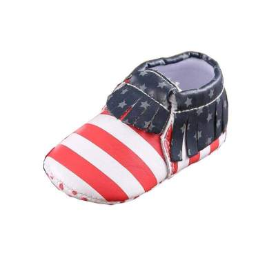 Faux Leather Baby Moccasins Non-slip Soft Soles Baby First Walker Newborn Baby Shoes