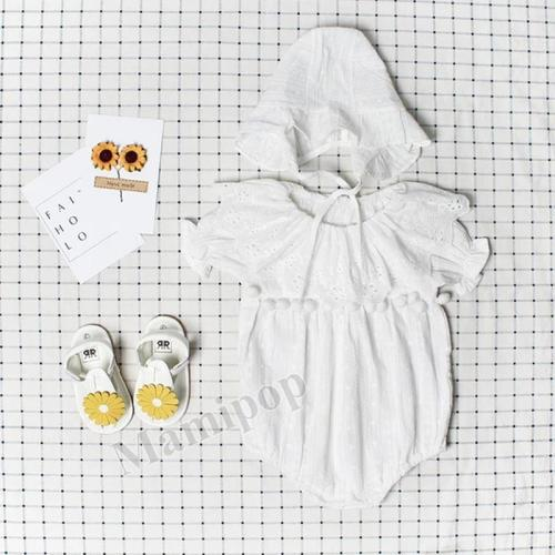 Summer New Girl Baby Jacquard lace Romper Cotton Short Sleeve one piece Creeper