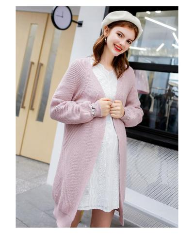 Pregnant women loose long embroidery maternity cardigan