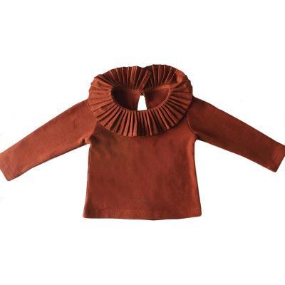 Children's long-sleeved T-shirt Children's Wear 100 fold Collar Bottom Shirt Top Cotton