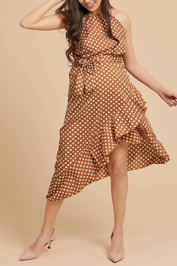 Maternity Fashion Off Shoulder Point Irregular Frenulum Maxi Dress