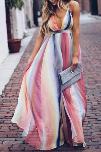 Pregnant woman halter halter chiffon dress