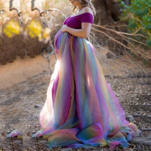 Maternity Casual Off-Shoulder Tassel Dress