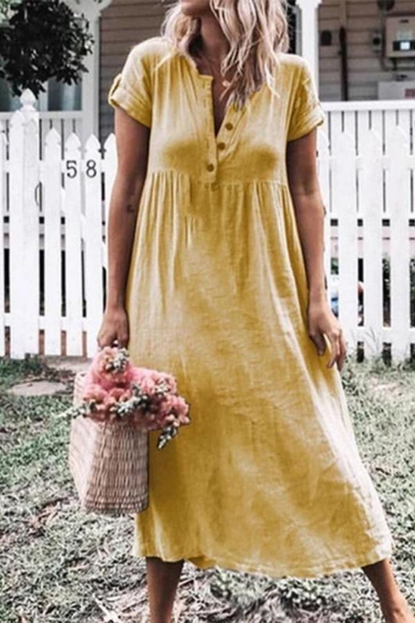 Maternity Plain Loose Casual Dress