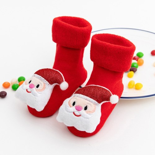Baby socks 2020 New hot Toddler Kids baby Boys Girls Christmas Santa Deer Anti-Slip Knitted Warm Socks