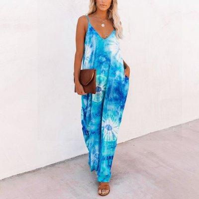 Maternity Sand Dollar Pocketed Tie Dye Olivian Maxi Dress