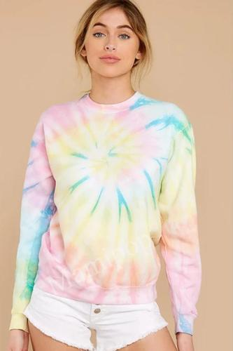 Autumn and Winter Women's New Tie-dyed Pullover Women's Sweatshirt