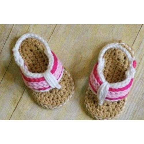 Crochet Baby Shoes Flip Flops