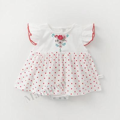 Summer Baby Girl's Clothes Dot Printed Cotton Triangle Skirt