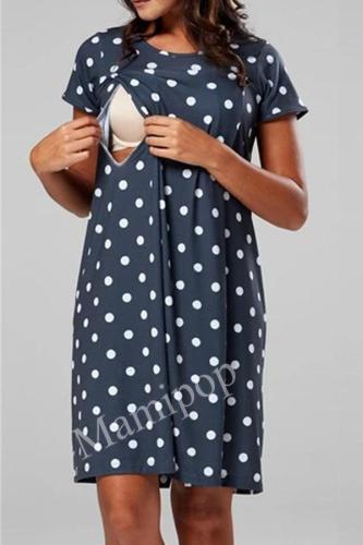 Maternity Pajamas Nightgown Breastfeeding Dress Childbirth Nursing Pajamas