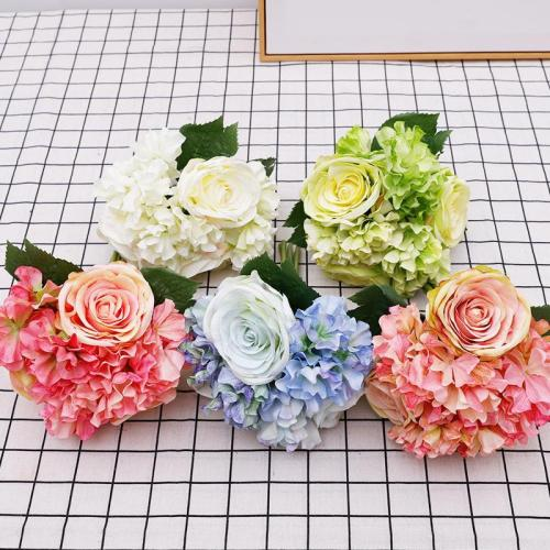 Hand tied hydrangea bouquet decoration artificial flower headwear