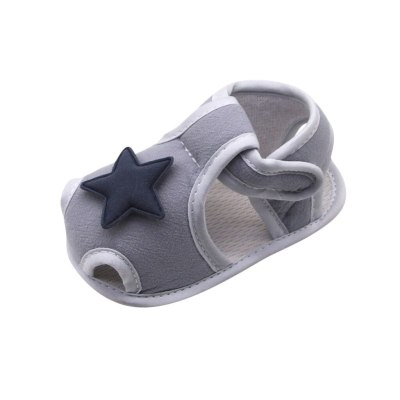 0-18m Infant Newborn Baby Girls Boys Prewalker Printing Stars Applique Single Shoes Cotton First Walkers