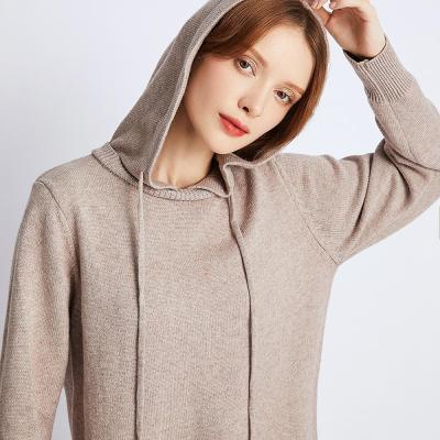 Hooded Dress Women's Sweater Autumn Winter French New Hooded Bottomed Coat