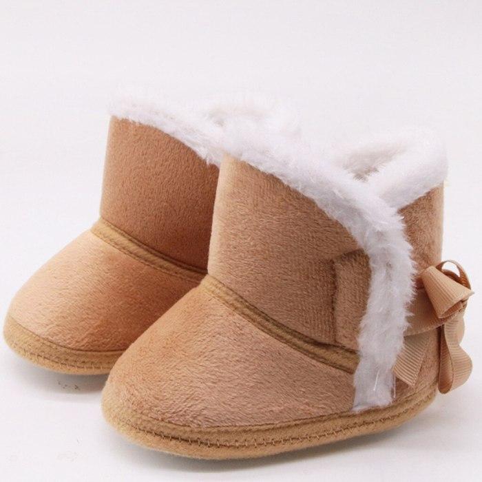 Winter Sweet Newborn Baby Girls Princess Winter Boots First Walkers Soft Soled