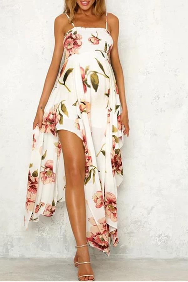 Maternity Plant Maxi Dress