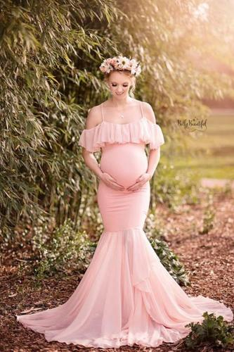 Mermaid Maternity Dresses For Photo Shoot