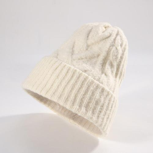 Knit warm fashion versatile cap