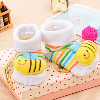0-12m 3d Cartoon Printed Newborn Baby Girls Boys Socks Slipper Shoes Boots Cotton Short Socks