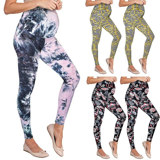 Women's Leggings Fashion Maternity Seamless Printing Pants